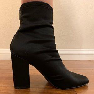 Black sock booties